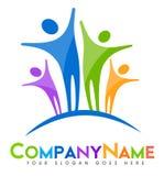 Logo della gente Fotografia Stock