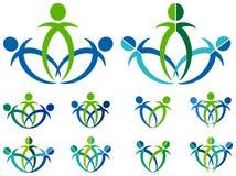 Logo della gente Fotografia Stock Libera da Diritti
