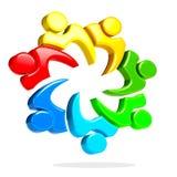 logo della gente di lavoro di squadra 3D Fotografie Stock Libere da Diritti