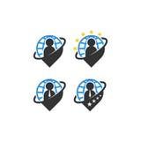 Logo della gente di Pin Immagine Stock Libera da Diritti