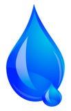 Logo della goccia di acqua Fotografia Stock