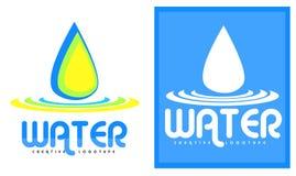 Logo della goccia di acqua Immagini Stock Libere da Diritti