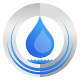 Logo della goccia di acqua Immagini Stock