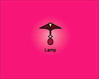 Logo della lampada da tavolo illustrazione vettoriale
