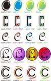 Logo della lettera C Immagine Stock
