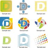 Logo della lettera D Immagine Stock