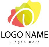 Logo della lettera D con la spruzzata dell'acqua Immagine Stock