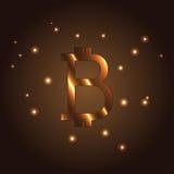 Logo della lettera di B, elemento di vettore dell'icona Bitcoin Fotografia Stock