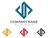 Logo della lettera di D Fotografia Stock