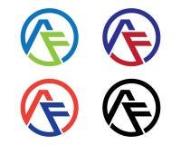 Logo della lettera di F Fotografia Stock