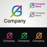 Logo della lettera di GA Fotografia Stock Libera da Diritti