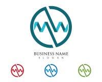 Logo della lettera di m. Fotografia Stock Libera da Diritti