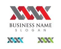 Logo della lettera di m. Fotografie Stock