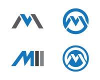 Logo della lettera di m. Fotografia Stock