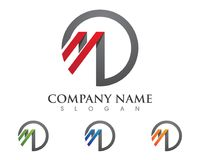 Logo della lettera di m. Immagine Stock