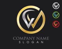 Logo della lettera di W Immagine Stock Libera da Diritti