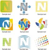 Logo della lettera N Fotografia Stock