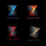 Logo della lettera N nella negazione Immagini Stock Libere da Diritti