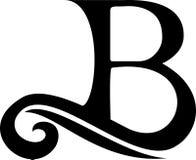 Logo della lettera nera B, annata royalty illustrazione gratis