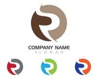 Logo della lettera della R Fotografie Stock