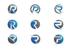 Logo della lettera della R illustrazione di stock