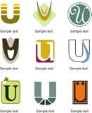Logo della lettera U Fotografia Stock