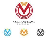 Logo della lettera v Fotografia Stock
