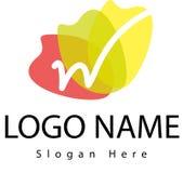 Logo della lettera W con la spruzzata dell'acqua Immagine Stock