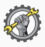 Logo della mano Fotografia Stock Libera da Diritti