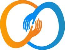 Logo della mano Fotografie Stock Libere da Diritti
