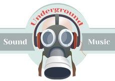 Logo della maschera antigas Fotografia Stock Libera da Diritti