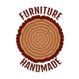 Logo della mobilia Fondo degli anelli di albero Albero annuale royalty illustrazione gratis