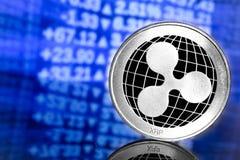 Logo della moneta dell'ondulazione immagini stock libere da diritti