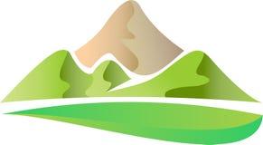 Logo della montagna Fotografia Stock