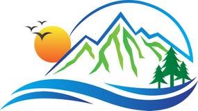 Logo della montagna illustrazione vettoriale