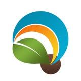 Logo della natura della foglia Fotografie Stock Libere da Diritti
