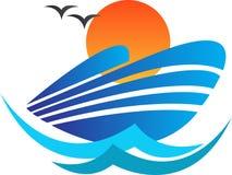 Logo della nave royalty illustrazione gratis