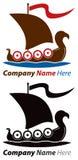 Logo della nave di Viking illustrazione di stock