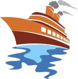 Logo della nave passeggeri royalty illustrazione gratis