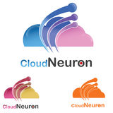 Logo della nuvola di tecnologia Fotografia Stock Libera da Diritti