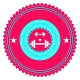 Logo della palestra Fotografia Stock Libera da Diritti