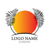 Logo della palma Fotografia Stock Libera da Diritti