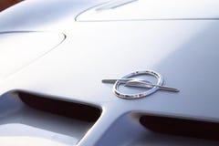 Logo della parte anteriore Opel GT/di Vauxhall Fotografia Stock