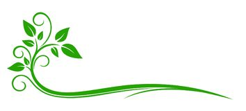 Logo della pianta illustrazione di stock
