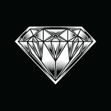 Logo della pietra preziosa dei gioielli del fumetto dell'illustrazione del diamante Fotografie Stock Libere da Diritti
