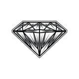 Logo della pietra preziosa dei gioielli del fumetto dell'illustrazione del diamante Immagini Stock