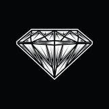 Logo della pietra preziosa dei gioielli del fumetto dell'illustrazione del diamante Immagini Stock Libere da Diritti