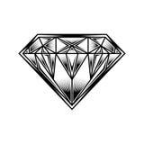 Logo della pietra preziosa dei gioielli del fumetto dell'illustrazione del diamante Fotografia Stock Libera da Diritti