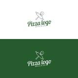 Logo della pizza Fetta della pizza Fotografia Stock