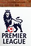 Logo della Premier League su una parete immagini stock libere da diritti